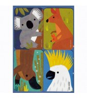 Magnet Greeting Card - Aussie by Little Red Owl