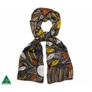 Aboriginal Art Silk Scarf -   Pauline Woody