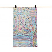Aboriginal Art Cotton Tea Towel - Judy Watson
