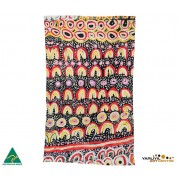 Aboriginal Art Cotton Tea Towel - Maggie Long