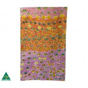 Aboriginal Art Cotton Tea Towel - Daisy Moss