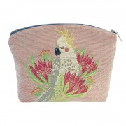 French Tapestry Cosmetic Bag - Aussie Birds