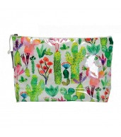 Large Cosmetic Bag - Cacti Garden