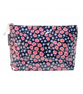 Large Cosmetic Bag - Flower Edging