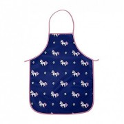 Kids Easy Wipe Apron - Unicorn Navy