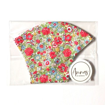 Liberty Tana Lawn Cotton Face Mask - Amelie Red