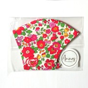 Liberty Tana Lawn Cotton Face Mask - Betsy Red