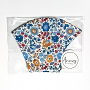Liberty Tana Lawn Cotton Face Mask - Danjo Blue