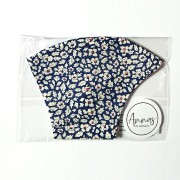 Liberty Tana Lawn Cotton Face Mask - Feather Fields Navy
