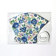 Liberty Tana Lawn Cotton Face Mask - Felicite Blue