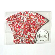 Liberty Tana Lawn Cotton Face Mask - June's Meadow Red