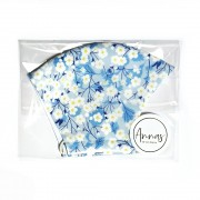 Liberty Tana Lawn Cotton Face Mask - Mitsi Blue
