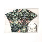 Liberty Tana Lawn Cotton Face Mask - Strawberry Thief Black