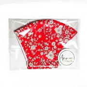 Liberty Tana Lawn Cotton Face Mask - Summer Bloom Red