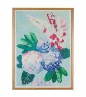 Painted Hydrangea Paper Print