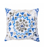Rik Rak Blue Gold Cushion Cover