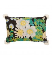Poppy Black Multi Cushion