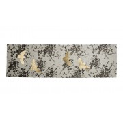 Table Runner - Field Floral Black Gold