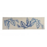 Table Runner - Inky Leaf Blue