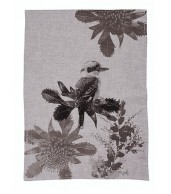 Tea Towel - Kooka Waratah Black