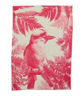 Tea Towel - Kookaburra Fern Lolly Pink