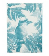 Tea Towel - Kookaburra Fern Soft Blue