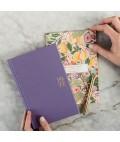 2022 Petite Linen Bound Planner - Lavender