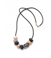 Coco 9 Bead Leather Cord Necklace