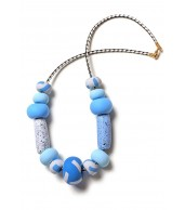 Dot Dash Big Bead Leather Cord Necklace (55cm)