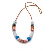 Emily Green Big Bead Necklace - Caramel Ink