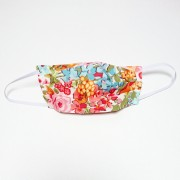 Handmade Cotton Reversible Face Mask - Floral Pink/Mustard