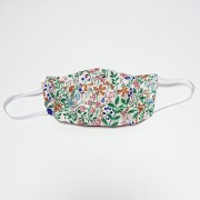 Handmade Cotton Reversible Face Mask - Floral Green / Gingham Grey