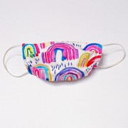 Handmade Cotton Reversible Kids Face Mask - Rainbow