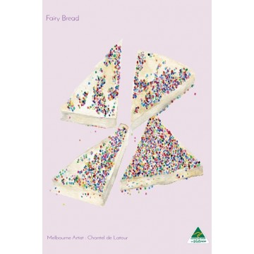 Microfibre Tea Towel - Fairy Bread Light Pink
