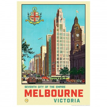 Melbourne: Seventh City Of The Empire Art Print