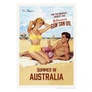 Retro Print - Johnson's Sun Tan Oil