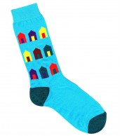 Beach Hut Socks Aqua Blue