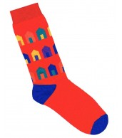 Beach Hut Socks Red
