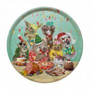Round Tray - Festive Feast