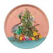 Round Tray - Festive Holiday Christmas