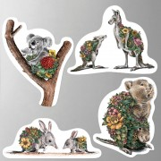 Magnets (Set of 4) - Australian Families 1