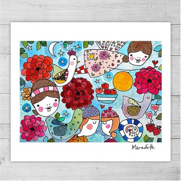 Limited Edition Print By Meredith Gaston - The Love Jumble