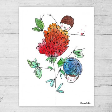 Limited Edition Print By Meredith Gaston - Blossoming
