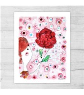 Limited Edition Print By Meredith Gaston - The Red Rose