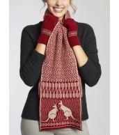 Merino Wool Kangaroo Scarf - Red