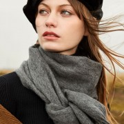 The Classic Wool Scarf - Light Charcoal