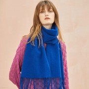 The Classic Wool Scarf - Veronica Blue