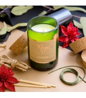 Limited Edition - Reclaimed Wine Bottle Soy Wax Candle Mountain Pine