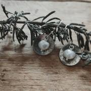 Blossom Disk + Pearl Earrings