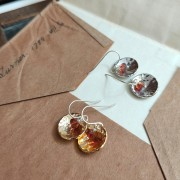 Dome + Precious Stone Earrings